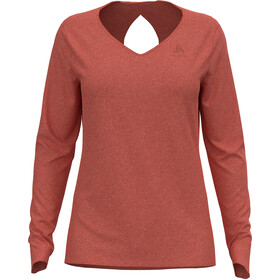 Odlo Halden Linencool T-Shirt L/S Crew Neck Women, burnt sienna melange